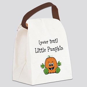 [Personalize] Little Pumpkin Canvas Lunch Bag